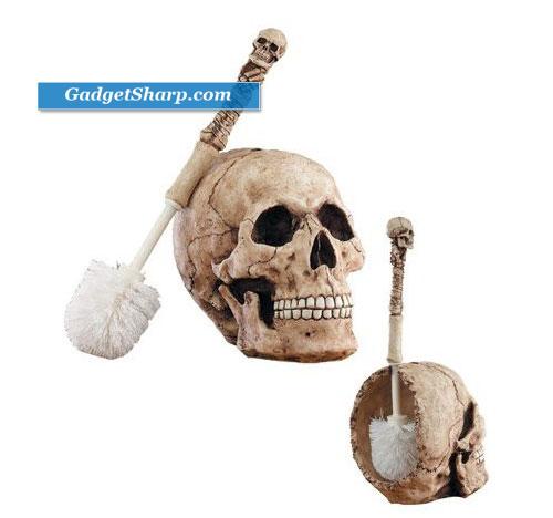Skull Head Toilet Brush Holder