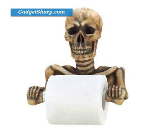 Spooky Skull Toilet Paper Holder
