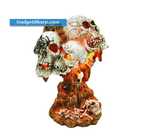 Creepy Catacombs Human Skull Accent Lamp