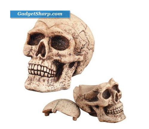 Skull Head Ashtray/Container