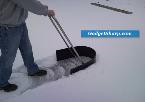 Snow shovel, snow thrower, snow pusher, ice scraper