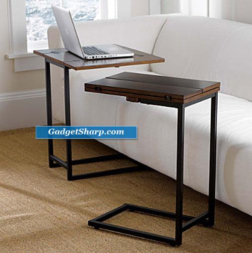 Convenient Slide Under Sofa Tables Gadget Sharp