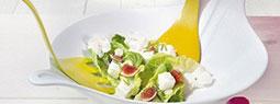 Stylish Salad Bowls with Servers