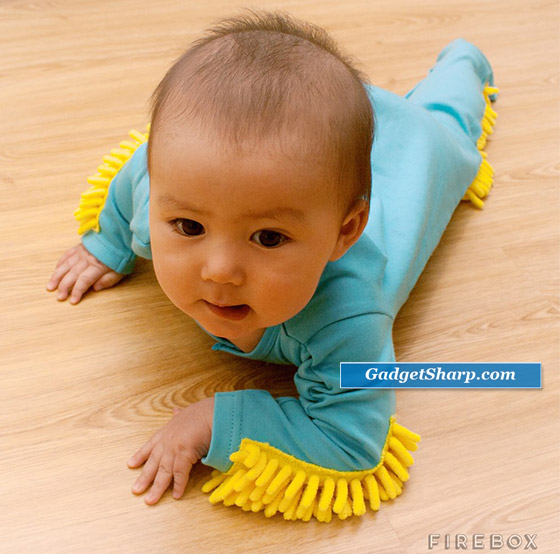 Baby Mop: Transform your aimless crawling baby into a cleaning machine